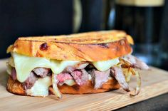 Steak and Onion Grilled Cheese | 25+ Leftover Steak Recipes Steak Sandwich Recipes, Grilled Cheese Recipes, Grilled Sandwich, Soup And Sandwich, Grilled Meat, Steak Sandwiches, Grilled Steaks, Grilled Cheeses, Leftover Steak Recipes