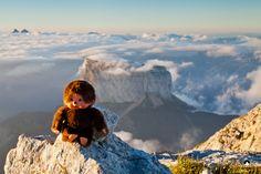 Kiki au sommet du Grand Veymont (Vercors)
