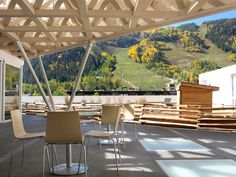 The mountainview roof terrace at the Aspen Art Museum - Photo by Andrew Harper