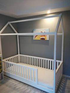 New baby girl bedroom ideas wonderland Ideas Toddler House Bed, Diy Toddler Bed, Toddler Rooms, Baby Bedroom, Baby Room Decor, Nursery Room, Girls Bedroom, Bedroom Ideas, Big Boy Bedrooms
