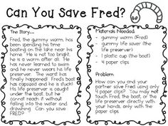 Interactive Science Notebook Freebie! ~ Can You Save Fred?