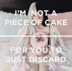 """ while you walk away""- Melanie Martinez- cake"