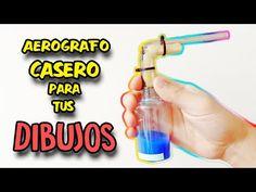 AERÓGRAFO/AIRBRUSH CASERO para POBRES por 2$ *Perfecto para tus dibujos* - YouTube Diy And Crafts, Simple, Color, Easy, Craft, Paper, Painting Tools, Acrylic Painting Tutorials, Carving Tools