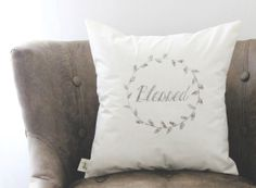 Blessed 16 x 16 Pillow Cover, love, wedding gift, couple, engagement gift, newlywed gift, housewarming, throw, cushion cover