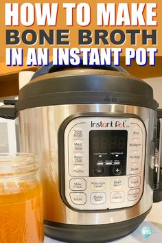 Learn how to make bone broth in an Instant Pot for the best bone broth ever! It's easier, faster, and tastier than any other way I've made it.