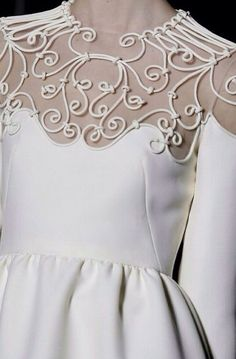 Valentino #fashion details #white dress
