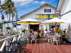 The Kahuku Grill in Kahuku on the North Shore of Hawaii. Best place on Earth! Promise :)