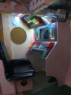 Dad Builds Incredible Spaceship Control Room Bed for His Son