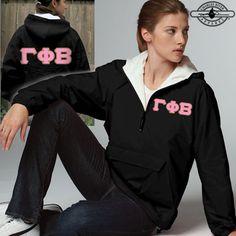 Gamma Phi Beta Sorority Pullover Jacket $39.99 #Greek #Sorority #Clothing #GPhiB #GammaPhiBeta