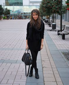 Cute simple black jumper dress.