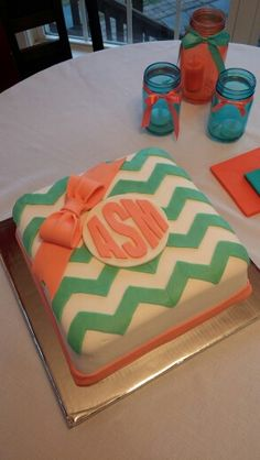 Simply Southern Inspired Birthday Cake And Party Sweetsinclairs - Monogram birthday cakes