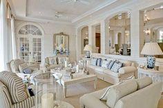 A sea-inspired interior at the stunning Plantation House, Barbados.
