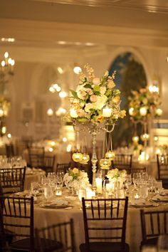 Reception decor - very romantic!