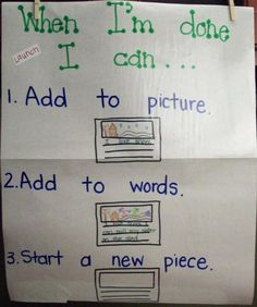 For writing workshop. one of my favorite charts to make each year.
