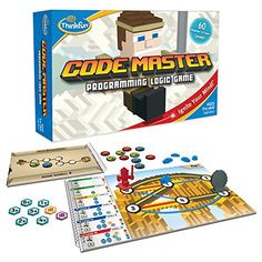 Price: (as of - Details) Code Master is one of ThinkFun's best stem toys for boys and girls, and winner of several awards. In Code Master, your avatar travels to an exotic world in search of power cry Gifts For Boys, Toys For Boys, Games For Kids, Kids Fun, Help Kids, Family Games, Fun Games, Big Kids, Computer Coding