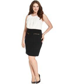 Spense Plus Size Dress, Sleeveless Pleated Bandage - Plus Size Dresses - Plus Sizes - Macy's
