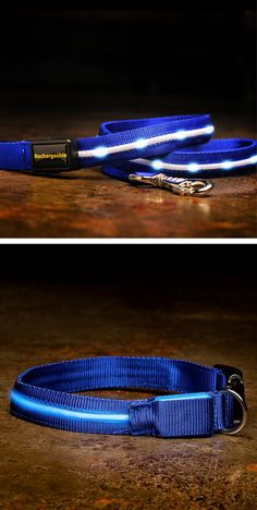 Stay visible and safe while walking the dog at night with this light up leash! #product_design