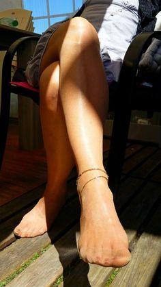 Bare Stocking Feet : Photo
