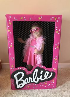 Barbie box photo booth Barbie birthday party DIY