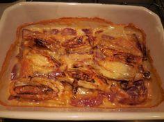 Gratin d'endives à la cancoillotte: Cette recette est une variation des très classiques endives au jambon, cette fois pas de béchamel mais de la cancoillotte.