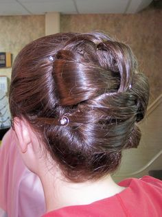 Woven curls in a smooth, classic updo by Debbie @ Reflections Hair Designs Salon   #debbie  #reflectionshairdesignssalon #pottstown