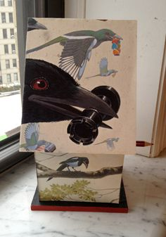 Birdhouse made by Betsy Bird using More written by I. C. Springman and illustrated by Brian Lies
