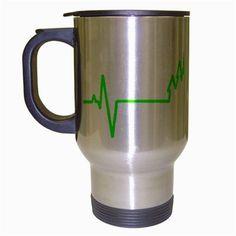 Castle Heartbeat Stainless Steel Travel Mug, $15.99