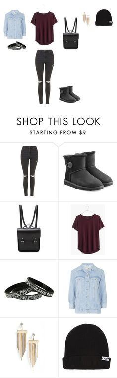 """""""Untitled #864"""" by littlewonder2504 ❤ liked on Polyvore featuring Topshop, UGG Australia, The Cambridge Satchel Company, Madewell, Neff, women's clothing, women, female, woman and misses"""