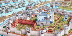 TowerOfLondon.drawing by Stephen Biesty