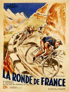 La Ronde de France Poster (#1262) 6 sizes