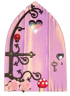 Fairy Door in Lush Lilac - Heart