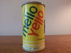 Drink Mello Yello Soda Can Radio AM Transistor by MaysFineAntiques, $50.00