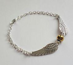 Golden Snitch Bracelet by charmedgiftsbycat on Etsy