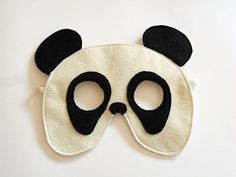 Panda Bear Felt Mask for Children Kids Animal by BHBKidstyle