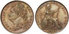 George IV, Farthing, 1821.