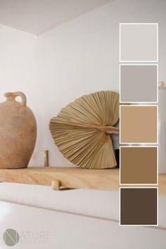 Brown Color Palettes, House Color Palettes, Color Schemes Colour Palettes, Earthy Color Palette, Bedroom Colour Palette, Bedroom Color Schemes, Earthy Living Room, Apartment Color Schemes, Earthy Home Decor