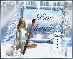 Lundi, cookies, hiver, bonhomme de neige, animé