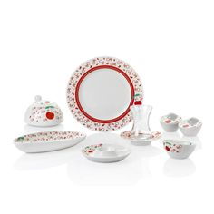 Bernardo Cherry Kahvaltı Takımı / Breakfast Set #bernardo #bonechina #breakfasttime #teatime #tabledesign #red #kirmizi #kiraz