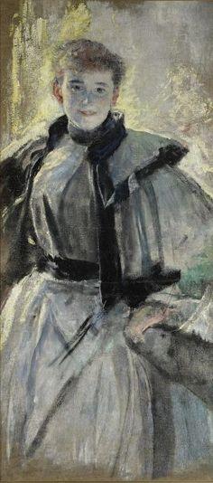 Portret Wandy Kossuth - Leon Wyczółkowski
