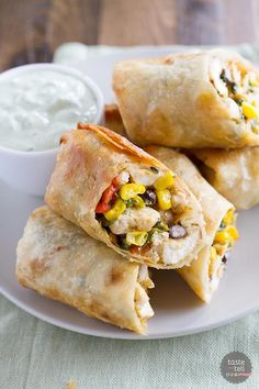 Southwestern Egg Rolls - Taste and Tell