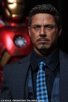 919326d447c Custom 1 6 Scale Tony Stark Head sculpt Ver 5.0