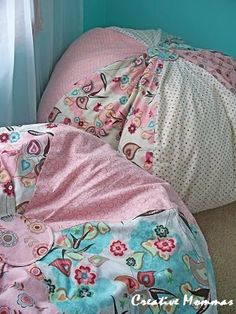 DIY bean bags. Must do this, I can never find one for the boys that I like enough or is big enough!