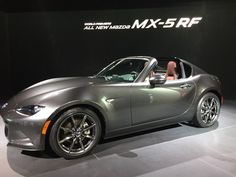 The 2016 Mazda MX-5 RF retractable hardtop debuted at the 2016 New York International Auto Show. (credit: Liane Yvkoff)