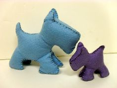Felt Scottie Dogs #howto #tutorial