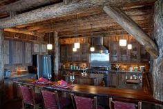 Beautiful rustic cabin kitchen