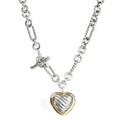 David Yurman Products / David Yurman Cable Heart Figaro Necklace On sale at www.sweepstreet.com