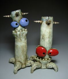 James DeRosso – Hobbies paining body for kids and adult Ceramic Monsters, Clay Monsters, Funny Monsters, Little Monsters, Ceramic Pottery, Pottery Art, Ceramic Art, Pottery Designs, Clay Projects For Kids