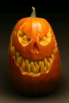 Halloween style! Pumpkin with evil grin!! Fantastic!