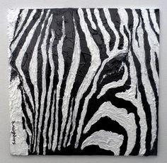Zebra Acrylic Painting on Canvas Panel by paintedtwigdesigns