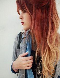 Ombré hair rouge